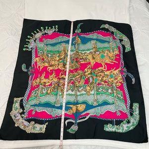 Hermès Tournez Manège Silk Square Scarf